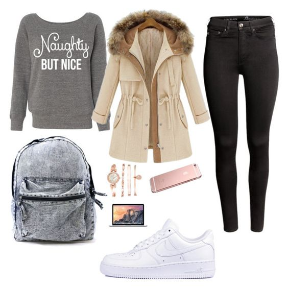 """☁️"" by emmaapix on Polyvore featuring mode, H&M, NIKE et Anne Klein"