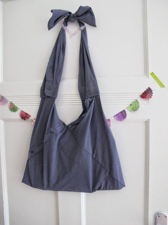 tasche aus hemd basteln und selber machen pinterest upcycling. Black Bedroom Furniture Sets. Home Design Ideas