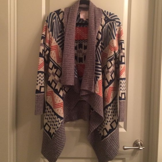 Aztec printed sweater Aztec printed sweater - blue, navy, orange, cream, and grey. Romeo & Juliet Couture Sweaters