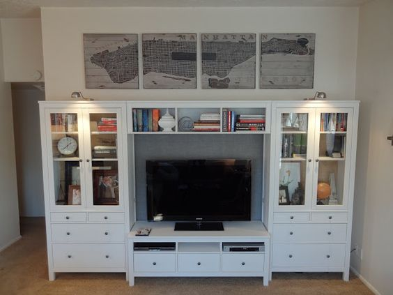 Nice entertainment center for storage