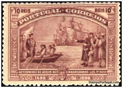 Selo de 1898 - Partida para a Índia - Selos - Afinsa nr 150 - Scott nr 149