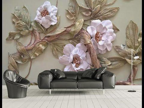 5d Mural Wallpaper For Bedroom Living Room Tv Cabinet Youtube Mural Wallpaper Flower Wall Decor 3d Wallpaper Mural