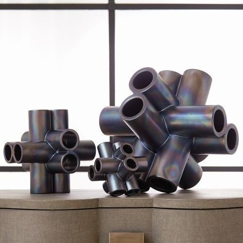 10 25 L Cube Tube Sculpture Black Luster Medium Looks Though It Could Have Use Doesnotapply Modern скульптура керамические скульптуры цилиндры