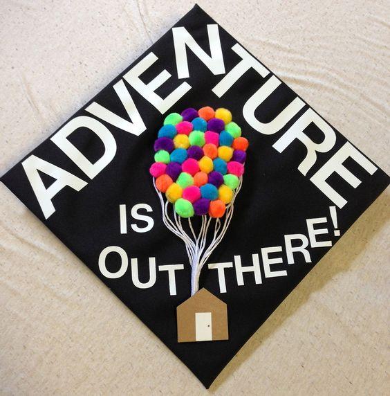 (100+) graduation cap | Tumblr (this is such a cute idea for a cap!)