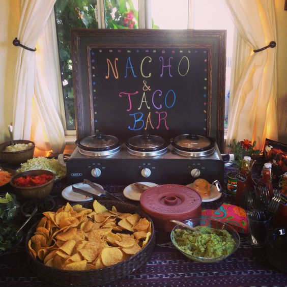 Nacho Bar Graduation Party Foods