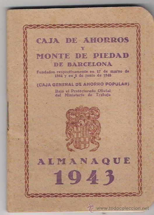 ALMANAQUE 1943-CAJA DE AHORROS Y MONTE DE PIEDAD DE BARCELONA-