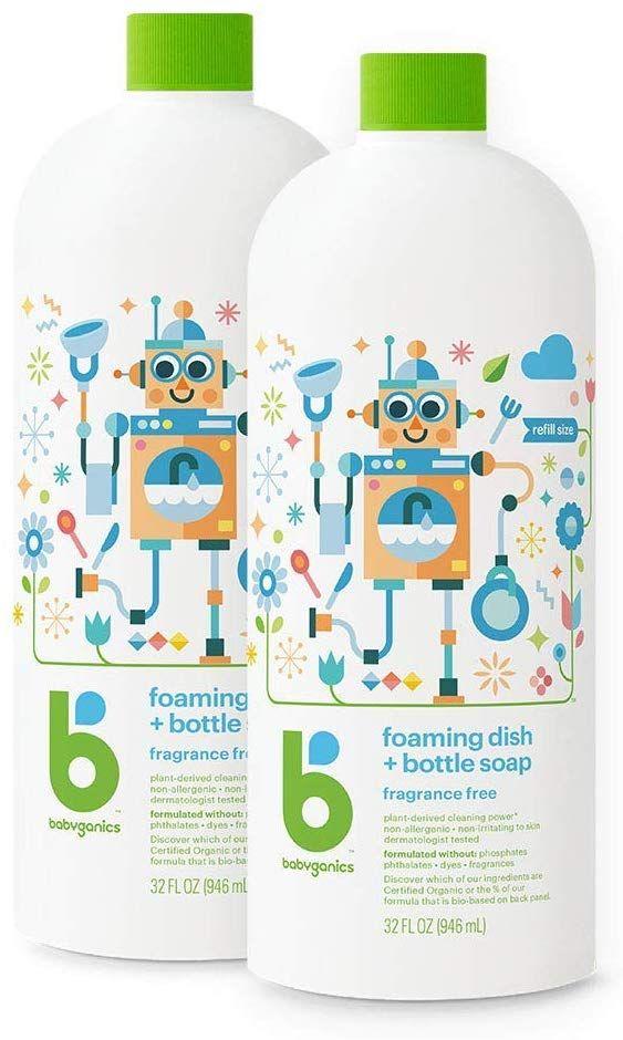 Babyganics Foaming Dish Bottle Soap Fragrance Free 32oz 2 Pack Amazon Free Shipping Baby Dishes Bottle