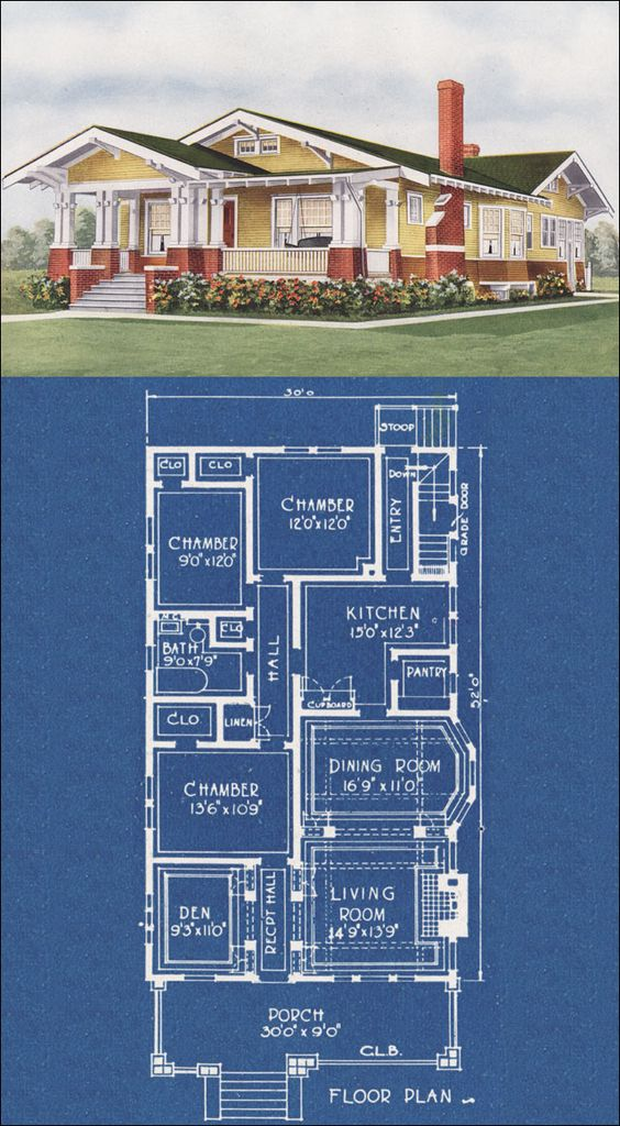 California bungalow small craftsman style house for Californian bungalow floor plans