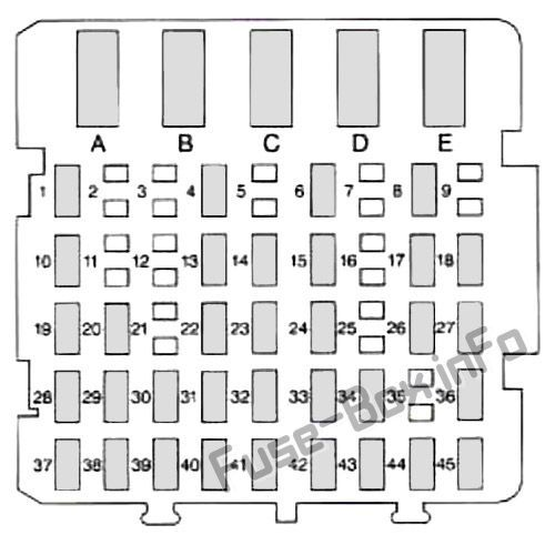 Instrument Panel Fuse Box Diagram Buick Century 1997 1998 1999 Buick Century Fuse Box Buick