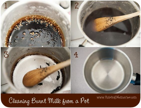 how to clean a burned pot without baking soda