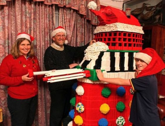 7-Foot Lego Dalek - every year this family creates a giant Lego creation.