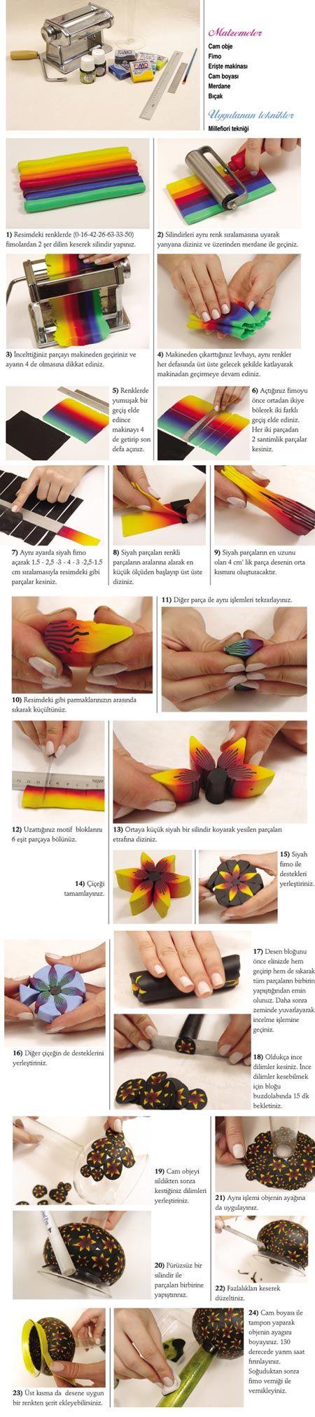 polymer clay rainbow tutorial +other stuff