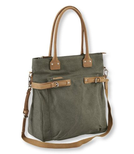 You won't find a better companion around town than this everyday bag, designed to fit seamlessly with your lifestyle, whether you're heading to work, running errands or going out with friends. Made from sturdy canvas with a distinctive leather trim and brushed nickel hardware. Cotton-canvas lining. Full-grain leather straps.</p> <p>This shoulder bag fits all the organizational features you need in one stylish package. Easy access to main compartment with zip top opening. Front zip pocket…