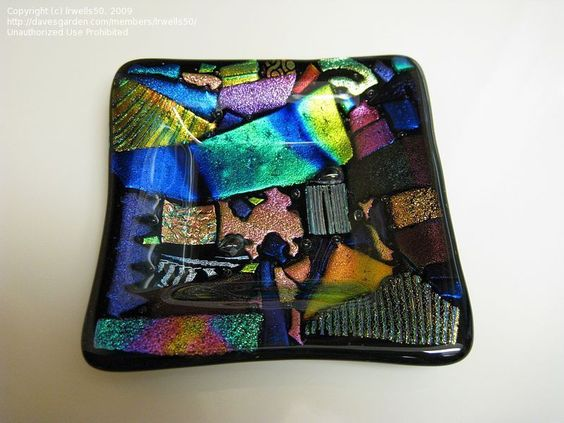 Another Brilliantly colored Dichroic Fused Glass Plate