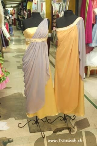 Divisoria!    http://www.bridalbook.ph/wedding-articles/dress-for-less-divisoria-style