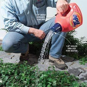 Drill holes in cap to make a watering can.