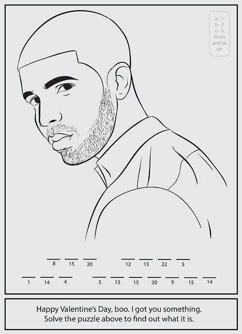 Drake Valentines Secret Message Coloring Books Coloring