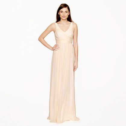 J.Crew - Heidi long dress in silk chiffon - wild beet  Wedding ...