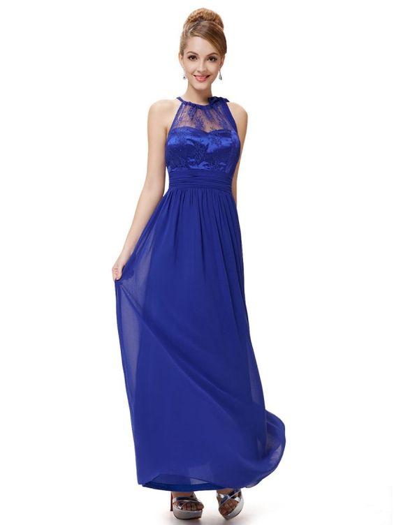 サファイアブルーが美しいロングドレス - ロングドレス・パーティードレスはGN 演奏会や結婚式に大活躍!