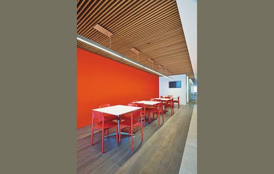 Pinterest the world s catalog of ideas - Wood slat ceiling system ...