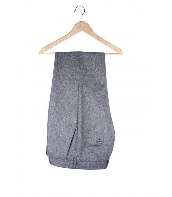 Szare flanelowe spodnie