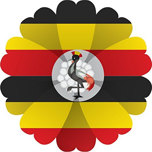 Uganda Flag Flower Home Decal Vinyl Sticker 12 X 12 Click Image To Review More Details Affiliate Link Windowstickersfil Decor Home Decor Vinyl Sticker