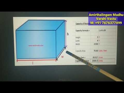 How To Calculate Capacity And Measurement Of Water Tank And Septic Tank Varahi Vastu Vastushastram Youtube Septic Tank Water Tank Water