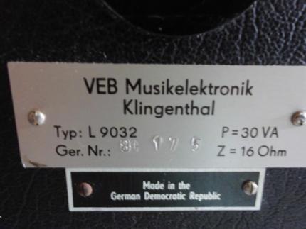 L 3402 Lautsprecher,Vermona Box,DDR,VEB,Klingenthal,30Va,16Ohm, in Brandenburg - Senftenberg | Musikinstrumente und Zubehör gebraucht kaufen | eBay Kleinanzeigen