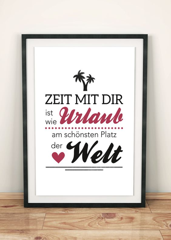poster zeit mit dir urlaub pdf plakat poster. Black Bedroom Furniture Sets. Home Design Ideas