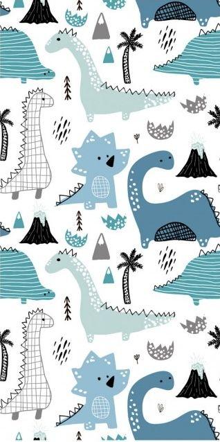 Modern Wallpaper Dinos Dinosaur Wallpaper Blue Wallpaper Iphone Baby Blue Wallpaper Cute wallpapers for kids boys