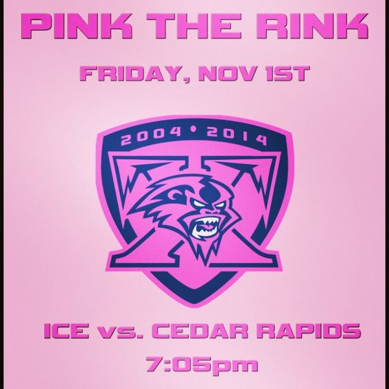 Where your PINK and support Pink the Rink Night!
