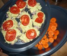 Rezept All in one Pute unter Fetahaube mit Reis und Gemüse von Erlebniskochen.Soest - Rezept der Kategorie Hauptgerichte mit Fleisch