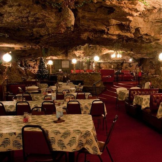 Have you ever dined in a cave? The strangest #restaurants in America can be found in the most unexpected of places. Here is The Cave in Richland, #Missouri.