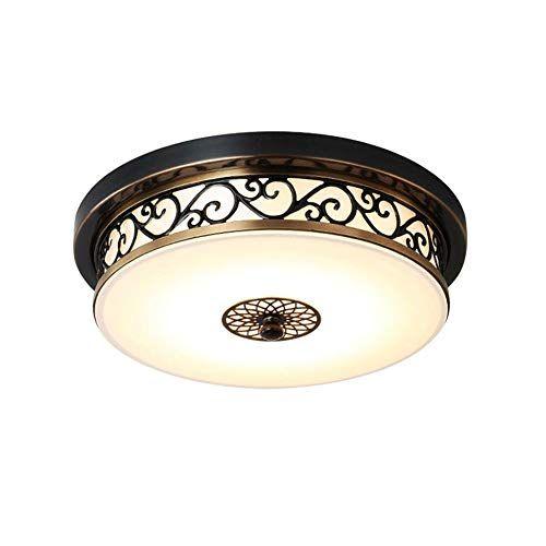 Deckenlampe Led Retro Schwarz Dimmbar Vintage Landhaus Rund Eisen Deckenleuchte Deckenlampe Orientalische Lampen Lampen