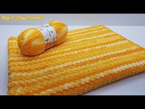 How To Crochet An Easy Baby Blanket Dandelion Dreams Bag O Day Crochet Tutorial 619 You Crochet Tutorial Easy Baby Blanket Crochet Baby Blanket Tutorial