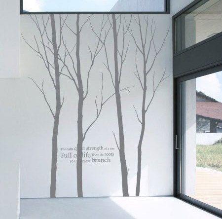 Baum Wandtattoo Aufkleber 4 Bäume Wald Wand Aufkleber von birdyfish