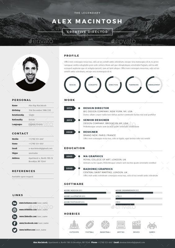Indesign Resume Template Prepossessing Mono Resume  Resume Decorating Design