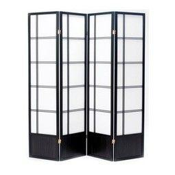 Fuji Black Oriental 4 panel Room Divider or Screen - £110