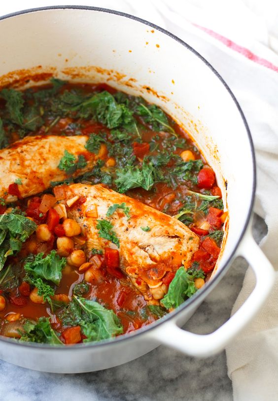 Chipotle Chicken Stew with Chickpeas and Kale - a quick and easy stew ...