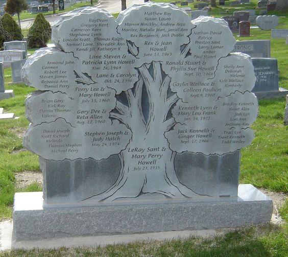 Stammbäume auf Grabsteinen und mehr