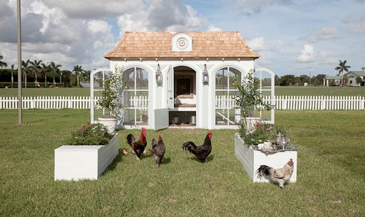 """Neiman Marcus Chicken Coop The Heritage Hen Mini Farm comes with a $100,000 price tag and is one of the high-luxe items featured in the 86th edition of the Neiman Marcus Christmas Book. I can have extravagant dreams for """"My Imaginary Chicken Farm"""", can't I?:"""