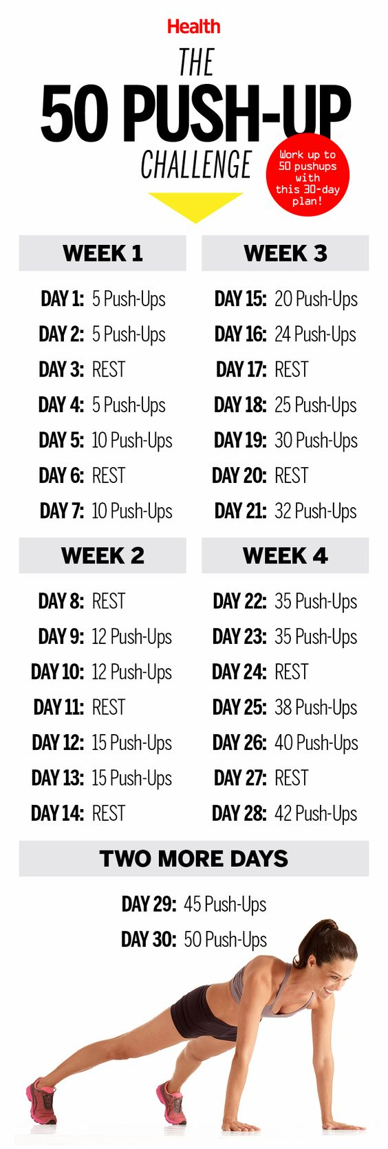 This 50 Push-Up Challenge Will Transform Your Body in 30 ...