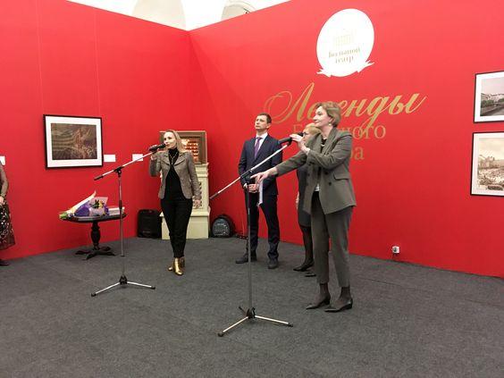 Выступление Анжелы Хохловой на открытии выставки