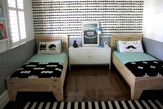 Mom's Best Network: Modern Shared Big Kids Room for 2 boys: