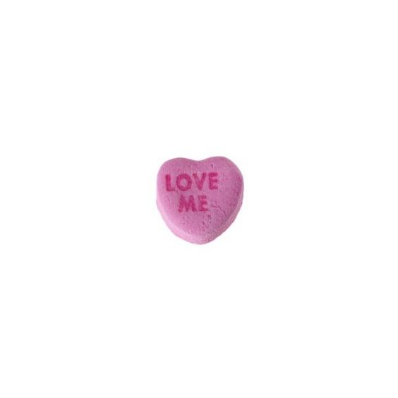candy-heart-love-me ❤ liked on Polyvore featuring fillers, food, candy, fillers - pink, phrase, quotes, saying and text