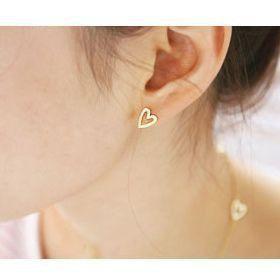 E233 Simple love queen peach heart stud earrings-in Stud Earrings from Jewelry on Aliexpress.com | Alibaba Group