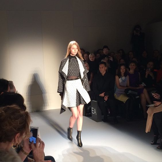 #Firstlook at the #RolandMouret #AW15 #PFW show in #Paris. #fashion #style #mode