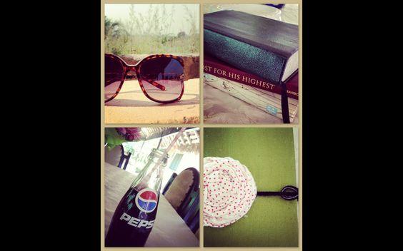 My style today: BiG #shades, #pepsi #crafts #fabricflower #Bible #journal #MyUtmostForHisHighest #SolitudeDay #projectstyleshare