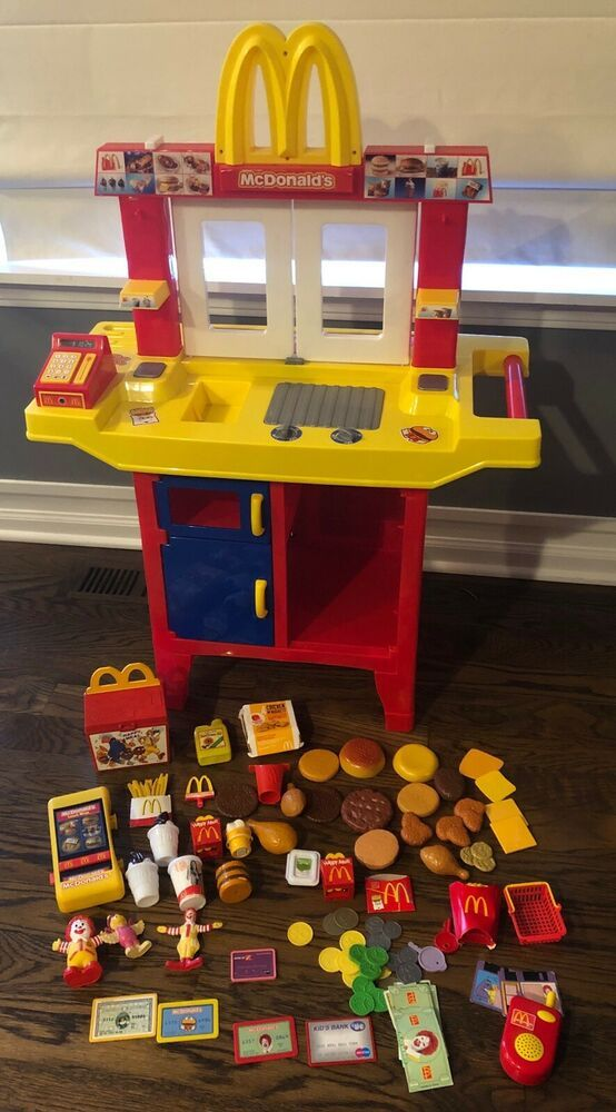 Vintage Mcdonalds Drive Thru Play Kitchen Playset