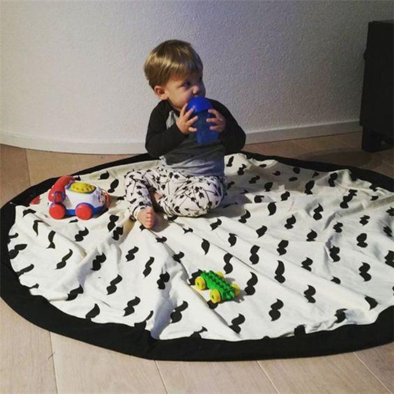23 sac portable grande toile enfants jouet sac de rangement tapis de jeu jouets organisateur. Black Bedroom Furniture Sets. Home Design Ideas